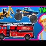 Videos for Kids 1 Hour Compilation – Fire Trucks | Monster Trucks | Backhoe – Blippi