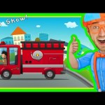 Fire Truck Song for Children | Nursery Rhymes with Blippi