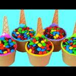 Candy Surprises cups Toys Learn Colors EggsVideos Disney Ice Cream Smurfs Monster High Lion Guard