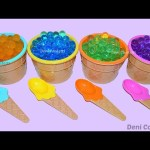 ICE CREAM SURPRISES TOYS FOR KIDS KINETIC SAND EGGS SURPRISE Best Learning Colors