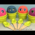 Kinetic Sand Ice Cream Smiley Face Surprise Toys Frozen Ooshies Shopkins Trolls Learn Colours Candy