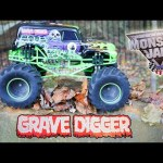 Playing with Monster Jams Grave Digger Remote Control Monster Truck