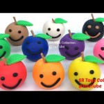 Play-Doh Apples with Hello Kitty Elephant Strawberry IceCream Molds Learn Colors with Nursery Rhymes