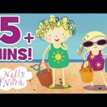 Nelly and Nora – Stomping on Sandcastles | A Hot Day on the Beach