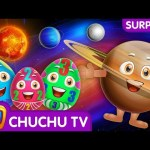 Surprise Eggs Learning Space – Planets Of The Solar System – Sun, Moon, Earth & Stars – ChuChu TV