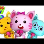 Three Little Kittens | Little Eddie Cartoons | Kindergarten Nursery Rhymes For Children by Kids Tv