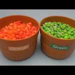 Learn Colours with Big Buckets of Candy!  Filled with Hidden Surprises!