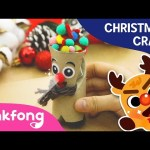 How to make Rudolph | Christmas Carols | Craft for Kids | Pinkfong Songs for Children