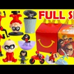 Collect 2018 The Incredibles 2 McDonald's Happy Meal Toys Full Set