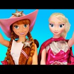 My Size Anna Dolls Dress Up in Barbie Costumes & Sheriff Callie Hat Kids Toys