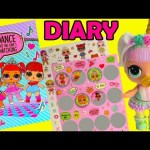 LOL Surprise Find Unicorn Doll Secret Diary Light Up and Mystery Stickers