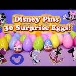 Opening Mickey Mouse Collector Pins in Surprise Eggs