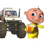 Five Little Babies Driving Monster Cars | Learn fruits For Kids | Five Little Babies Collection
