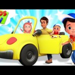 Driving Down The Road | Junior Squad Cartoons | Kindergarten Songs & Nursery Rhymes – Kids Tv