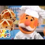 Hot Cross Buns | Nursery Rhymes | Super Simple Songs