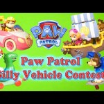 PAW PATROL  Silly Vehicle Contest with RC Car a Funny Toys Parody