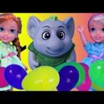 Frozen Kids Elsa & Anna Surprise Eggs Hunt Petite Surprise Trolls Dolls Rock Lego Duplo Kids Toys