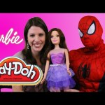 Giant Barbie Doll Gets A Makeover With Play-Doh Jewelry Kids Toys