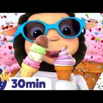 Ice Cream Song! +More Nursery Rhymes & Kids Songs | ABCs and 123s | Learn With Little Baby Bum