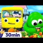 Learn Wheels on The Bus – Monster on the Bus! +More Nursery Rhymes | ABCs and 123s | Little Baby Bum