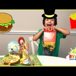 McDonald's Playground Hamburglar board game with Eggs Surprise Toys