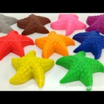 Play Doh Starfish with Cookie Cutters | Surprise Toys, Surprise Eggs