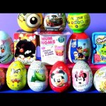 Surprise Chocolate Eggs, Peppa Pig Mickey Minnie Frozen Minnions Paw Patrol
