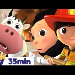 The Firetruck Song +More Nursery Rhymes and Kids Songs – ABCs and 123s | Learn with Little Baby Bum
