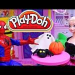 Frozen Play Doh Halloween Barbie Dollhouse DisneyCarToys Play Dough Ghost Costume Kids Toys