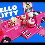 Hello Kitty Toys ❤ DisneyCarToys Dance Party Limo, Bee Rosy Hello Kitty, Cafe Toy Review Kids Toys