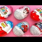Kinder Joy, Kinder Surprise, Spider Man, Minnie Mouse, Star Wars Chocolate Surprise Eggs