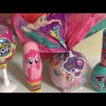 Giant Egg Surprise Disney Princess Little Mermaid Pikmi Pops LOL Disney Emoji Mashems Pixar Play Doh