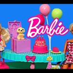 Chelsea Barbie Birthday Party with Frozen Elsa, Anna, Felicia Kids Kelly Dolls DisneyCarToys