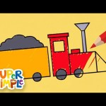 Draw And Color A Train | + More Drawing For Kids | Watch & Learn