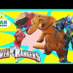 POWER RANGER MOVIE TOYS MEGAZORD Surprise Toys Hunt Giant Life Size Dinosaur Attack Pretend Play