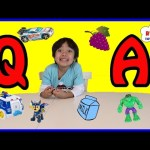Ryan ToysReview Q&A! Favorite Kids Toys! Paw Patrol Hot Wheels Superhero Play Doh