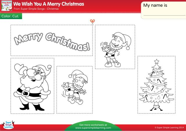Christmas Worksheets For Kindergarten