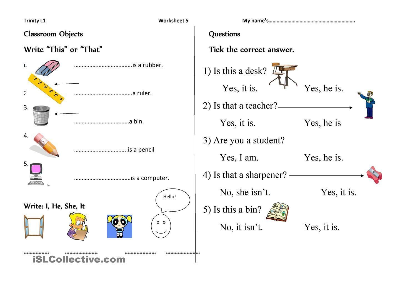English Worksheets For Grade 1 Pdf