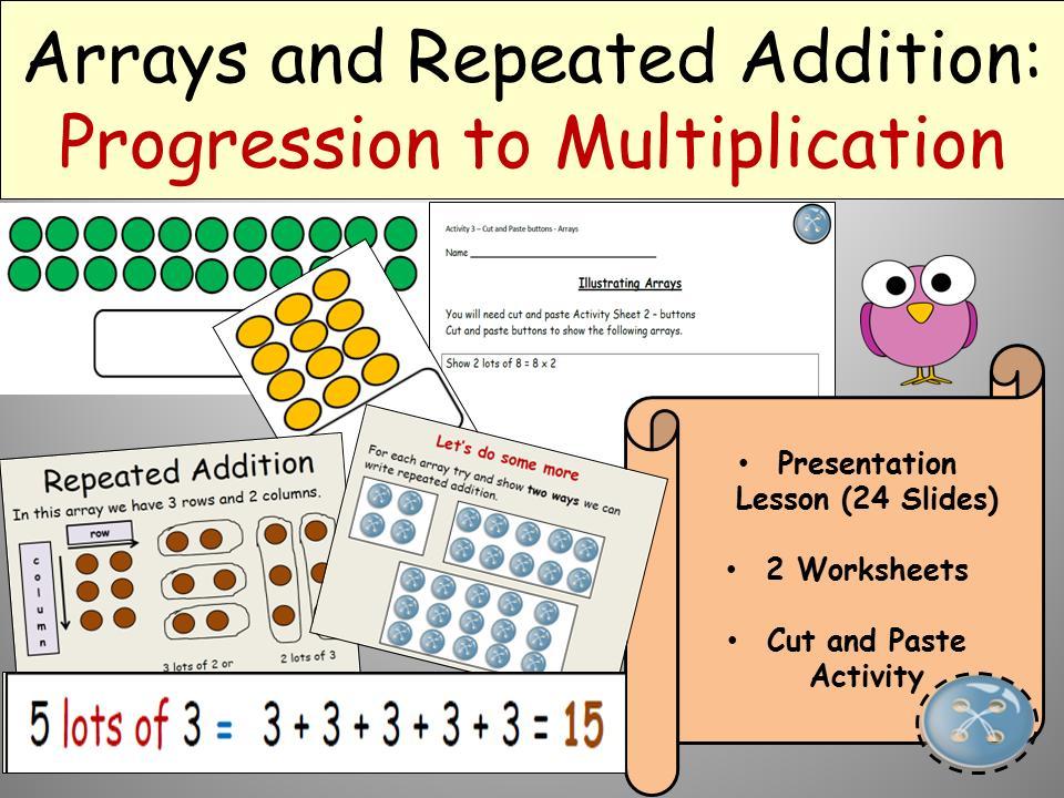 Multiplication Arrays Worksheets Year 2