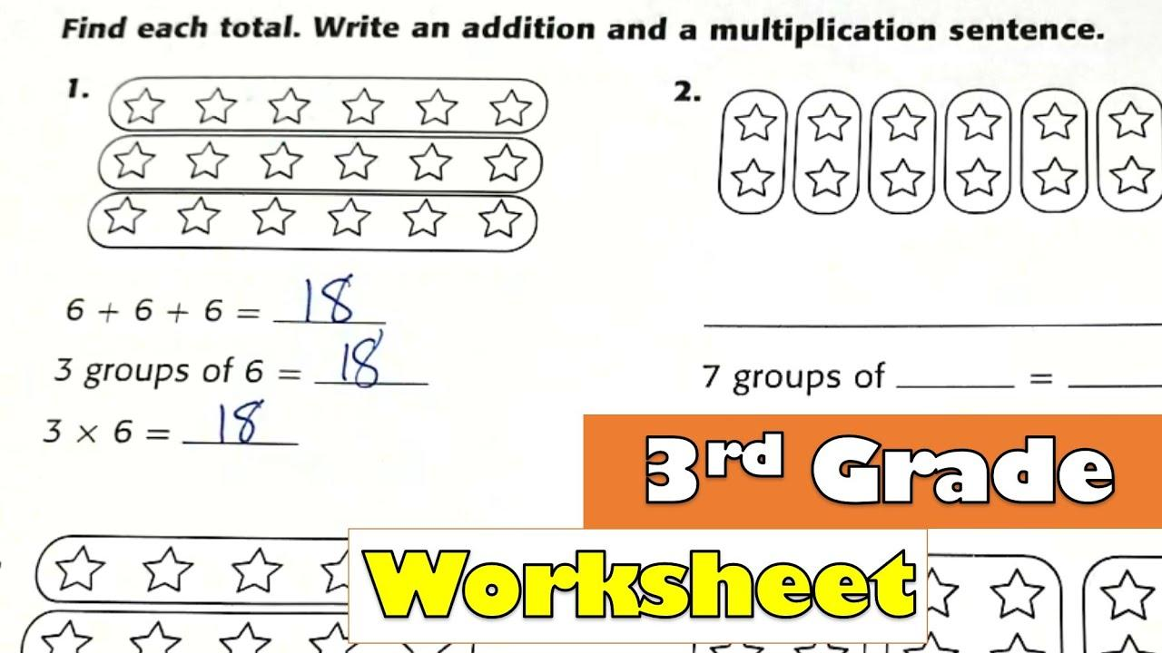 Beginning Multiplication Worksheets Pdf