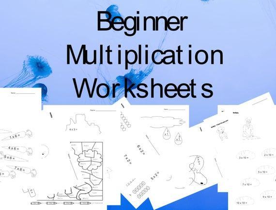 Easy Beginner Multiplication Worksheets