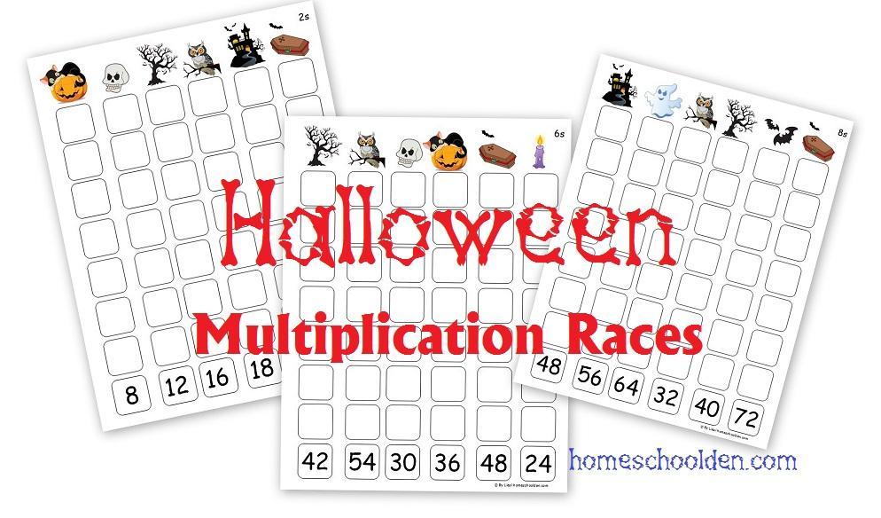Halloween Multiplication Worksheets 4th Grade