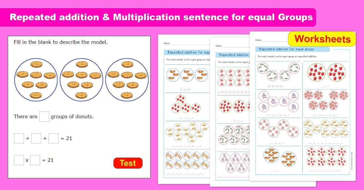 Multiplication Equal Groups Worksheets 3rd Grade