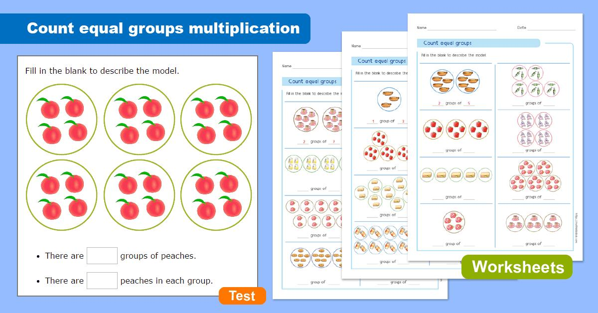 Multiplication Equal Groups Worksheets Year 3