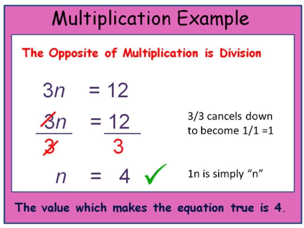 Multiplication Equations Worksheets 1