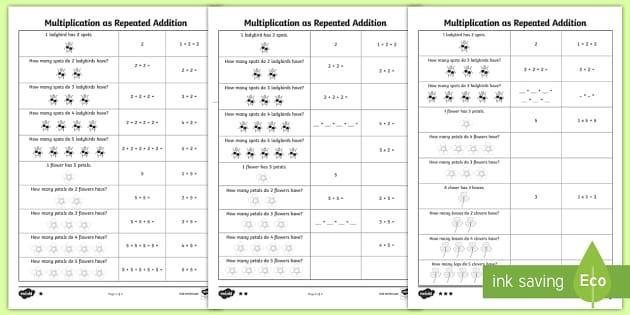 Multiplication Worksheet Examples 4