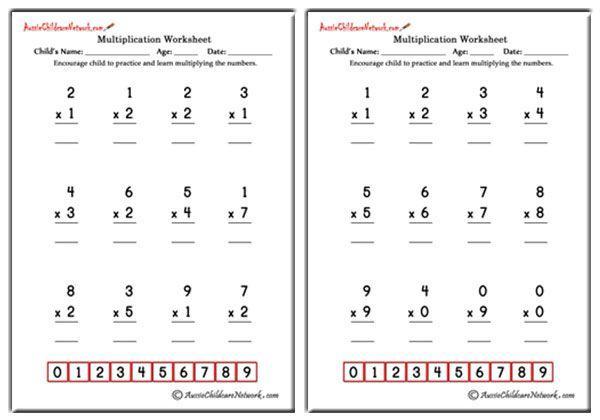 Multiplication Worksheets Easy 1