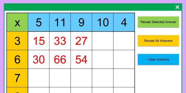 Multiplication Worksheets Excel 3