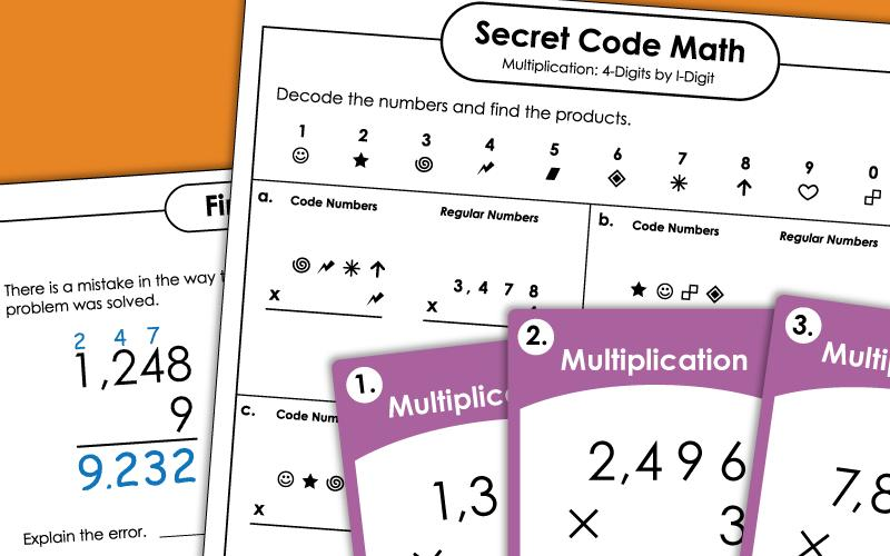 Multiplication Worksheets Horizontal 2