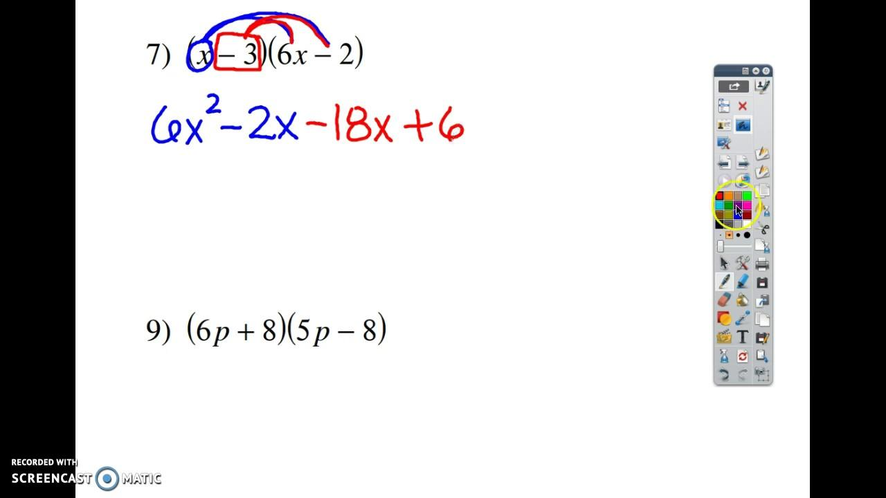 Multiplication Worksheets Kuta 1